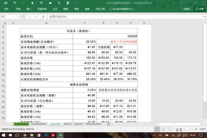 一个财务分析小工具(Excel版)
